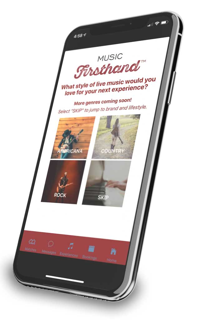 Music Firsthand * Create your own live music experience